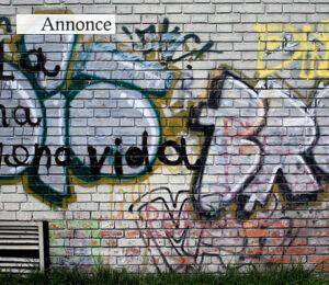 Graffiti på muren kan nemt fjernes